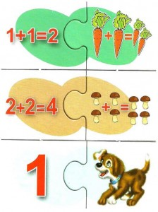 Mathematical puzzle preschool