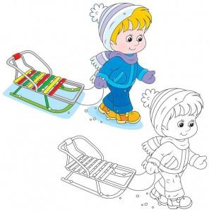 cool_winter_coloring_ski