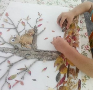 how_to_make_crafts_using_leaves_for_preschool
