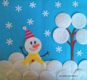 winter_crafts_with_cotton_make_up_pads