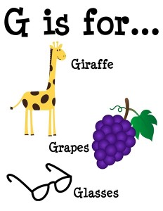 G is for alphabet poster