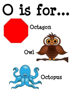 O is for alphabet poster