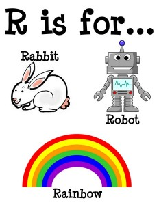 R is for alphabet poster