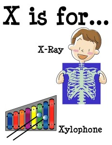 X is for alphabet poster