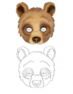 animal mask templates bear