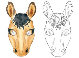 animal mask templates horse