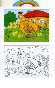 animals coloring pages chicken