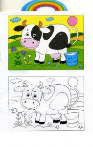 animals coloring pages cow