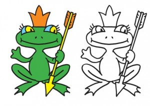 animals coloring pages frog