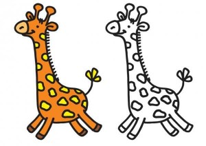 animals coloring pages giraffe