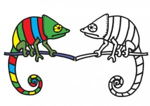 animals coloring pages lizard