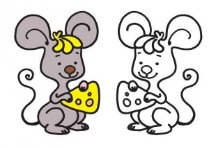 animals coloring pages mause