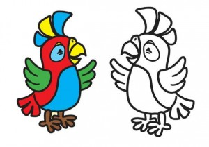 animals coloring pages parrot