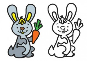animals coloring pages rabbit