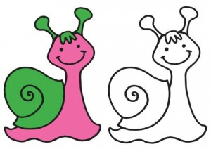 animals coloring pages snail