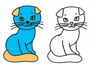animals coloring pages sweet cat