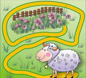 animals labyrinth sheep