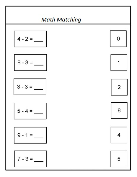 Printable Math Matching Games For Preschoolers - preschool color ...
