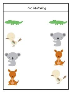 animals zoo matching