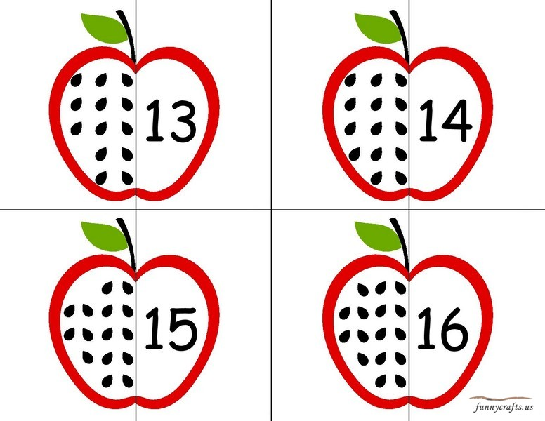 Apple activities for preschool 187 apple number puzzle early years