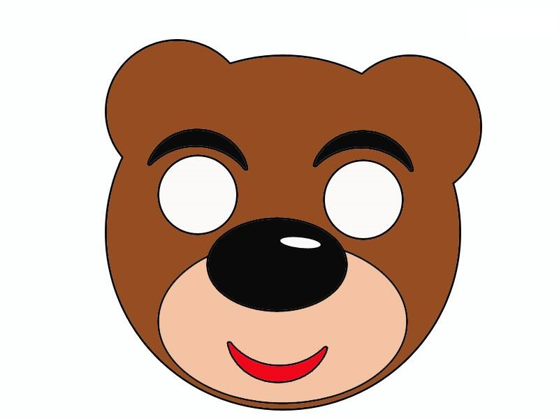 Bear Mask Template 171 Funnycrafts