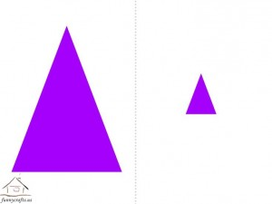 big and small triangle