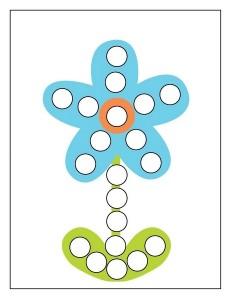 blue flowerr spring do a dot