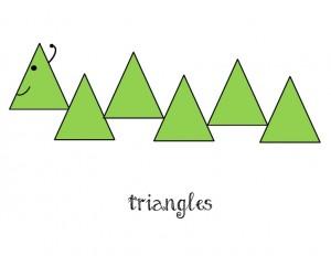 bugs activities triangle caterpillar
