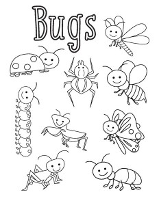 bugs activities for preschool funnycrafts bug coloring pages - Insect Coloring Pages