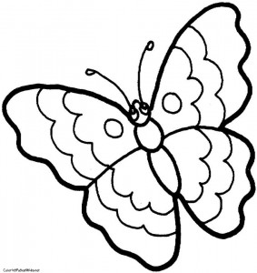 butterfly coloring for preschoolers