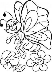 butterfly coloring for preschoolers (4)