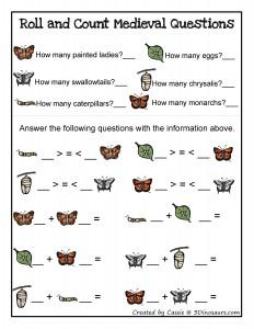 butterfly math activities,