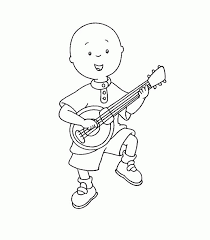 caillou and music