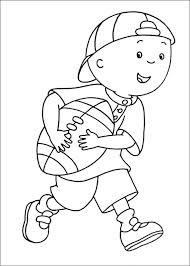 caillou coloring baseball