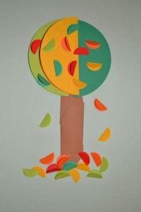 circle paper autumn tree