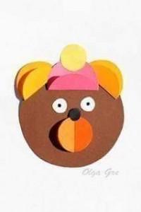 circle paper bear