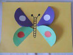 circle paper butterfly arts