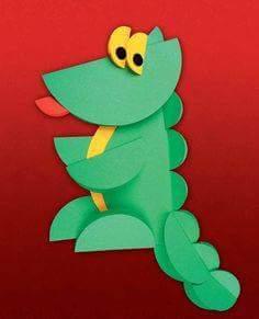 circle paper dinosaur