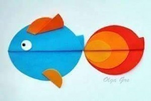 circle paper fish