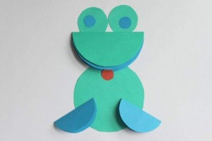 circle paper frog