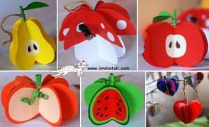 circle paper fruit