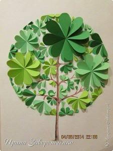 circle paper made tree