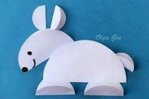 circle paper rabbit