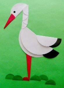 circle paper stork