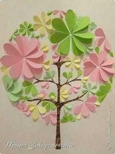 circle paper sweet tree