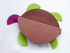 circle paper turtle
