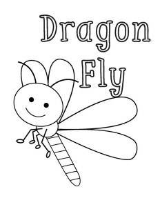 coloring pages dragon fly