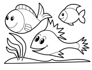coloring pages fısh for kıds