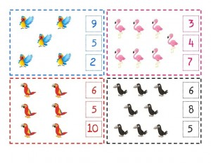 counting math tivities birds theme