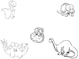 dinosaur coloring for kıds